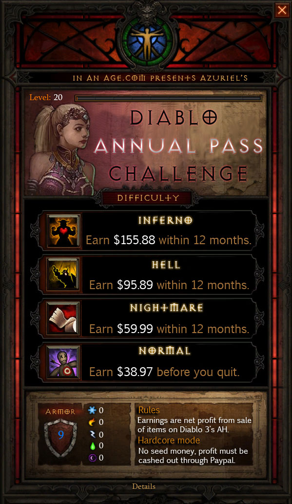 Diablo Annual Pass Challenge