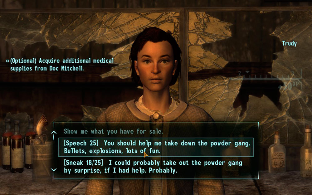 I do kinda miss the Fallout 1 & 2-style depth to responses.