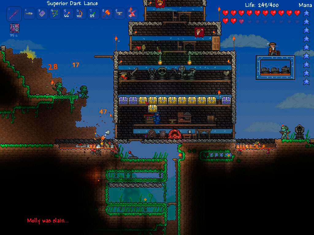 Yes thatu0027s a lava moat below a lever-operated trapdoor. & Review: Terraria | In An Age