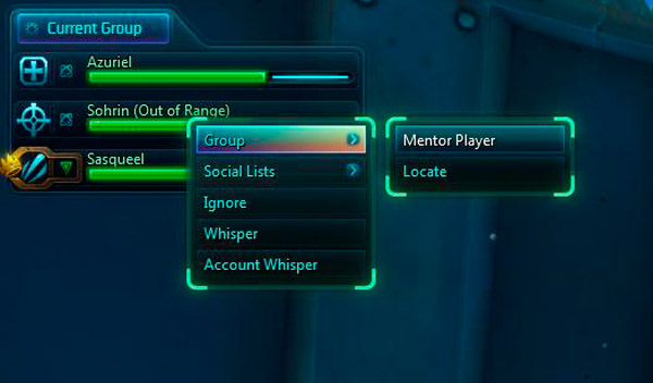 Right-click > Group > Mentor Player