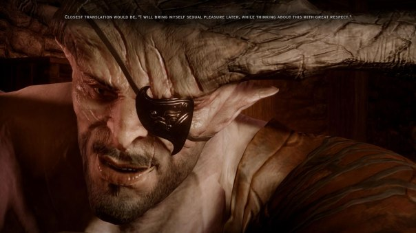 Serious competition with Varric for best party member banter.